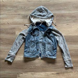 Free People Denim Jacket with Hood